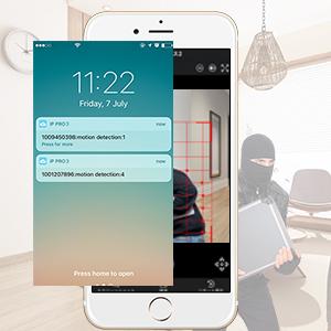 監視カメラ システム 動体検知 アプリ警報