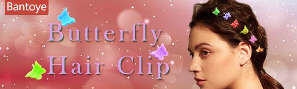 100 Packs Assorted Color Butterfly Hair Clips, Bantoye Beautiful Mini Hair Clips , Random Color