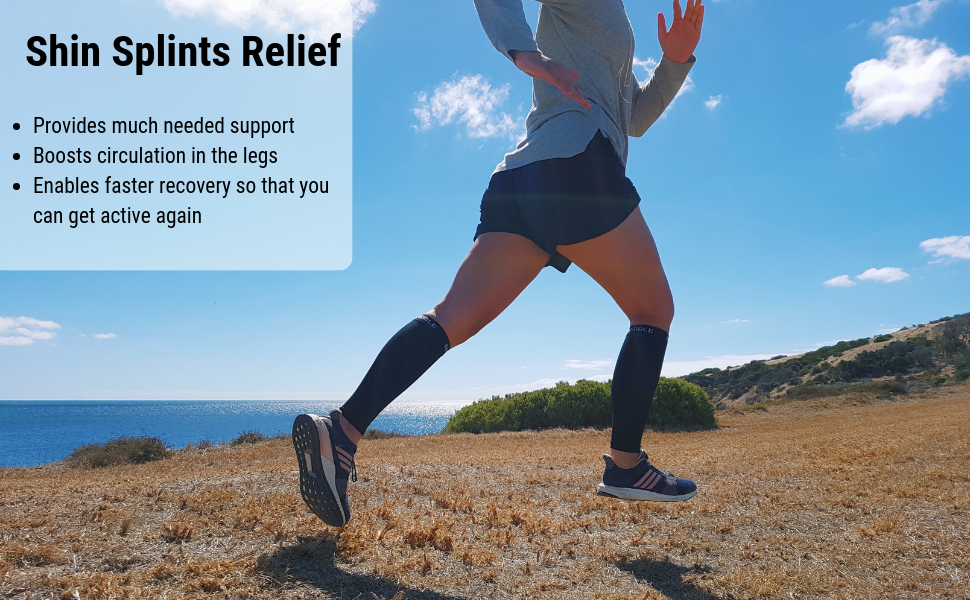 calf compression sleeve shin splint sleeves socks bevisible sports