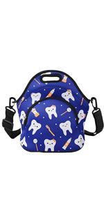 Blue Teeth Lunch Bag