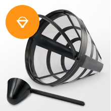 removable plastic funnel permanent filter basket spoon accessories