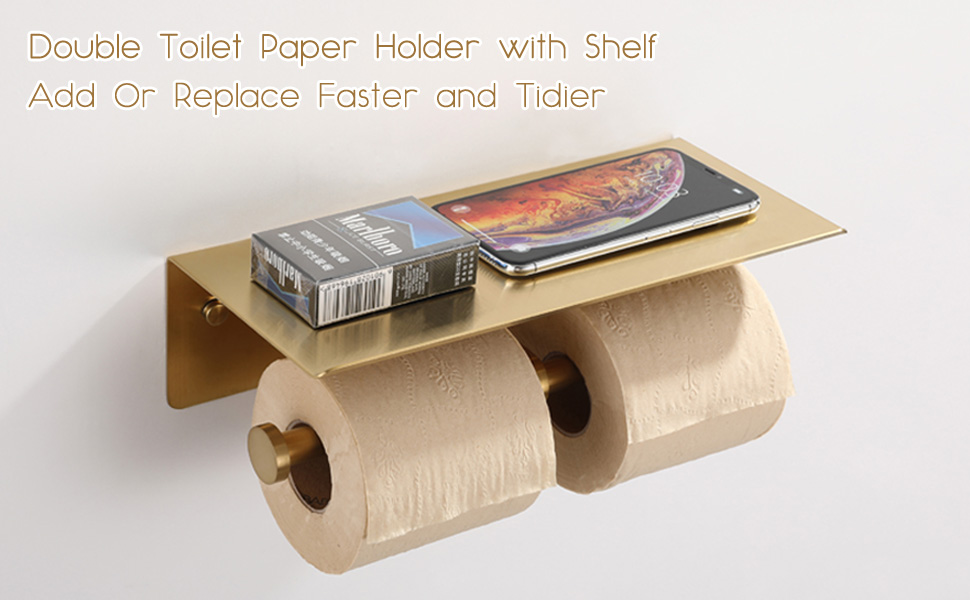 Left View of TP Holder with Shelf for Phone