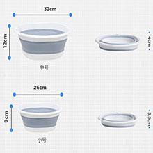 RULAYMAN 折りたたみ 洗面器 たらい ソフト湯おけ シリコン キッチン 雑貨 北欧デザイン コンパクト収納 省スペース 洗濯 掃除 足浴 風呂 アウトドア 旅行用 多用途
