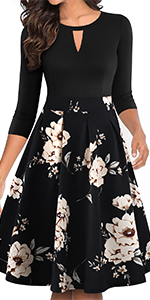 women's wear to work dresses fit and flare vintage dresses for women casual dress summer fall pocket
