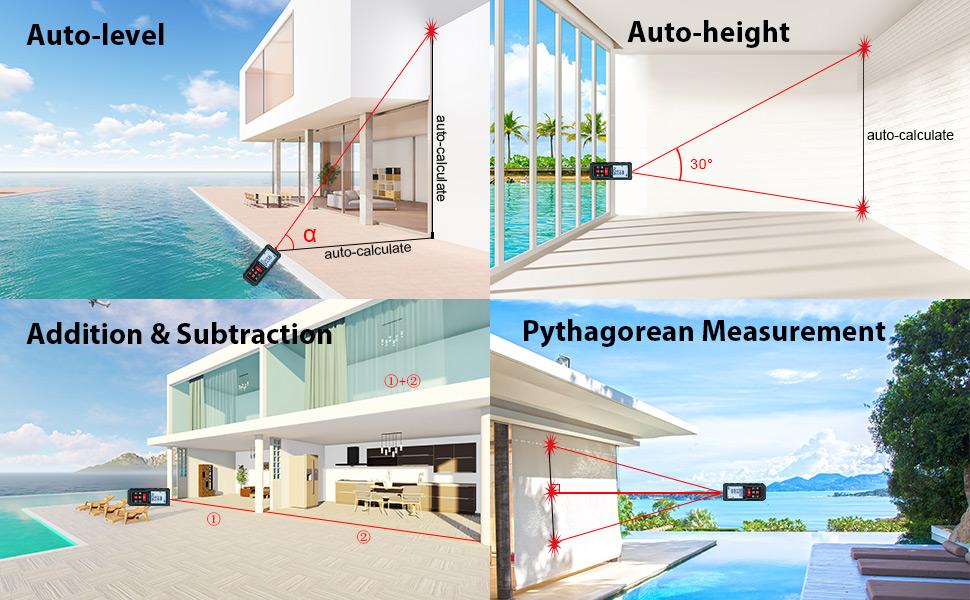 Mileseey Multi-measurement laser measure