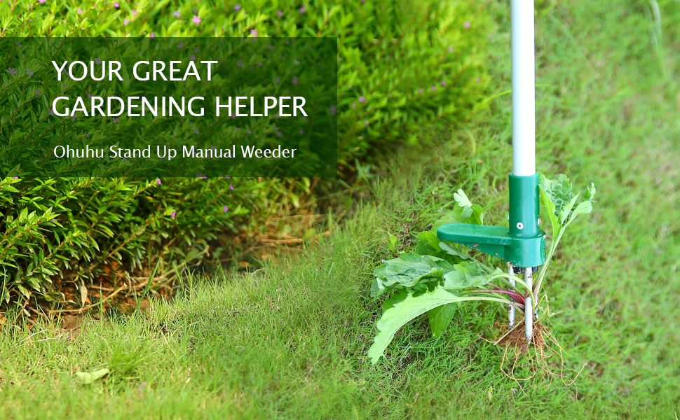 Standing Plant Root Remover,Stand Up Weeder with Steel Claws 100cm Long Aluminum Alloy Pole,Weed Puller Hand Tool for Garden Lawn