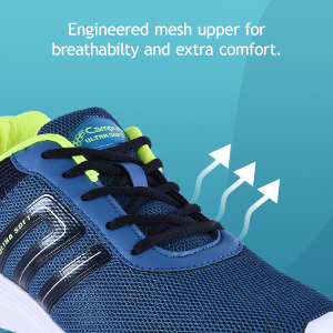 Engineered Mesh Upper For The Breathability And Extra Comfort