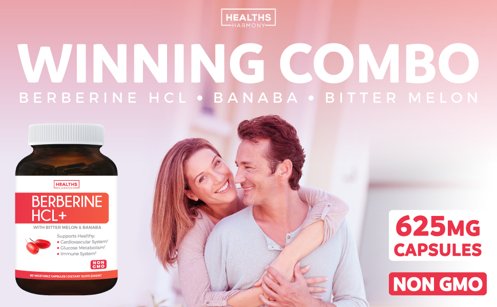 Berberine HCL with Banaba Leaf & Bitter Melon Extract daily capsules - Natural Blood Sugar Support