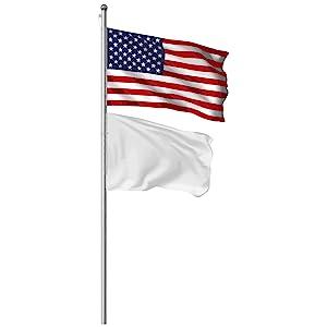 G128 Flag etiquette same flagpole