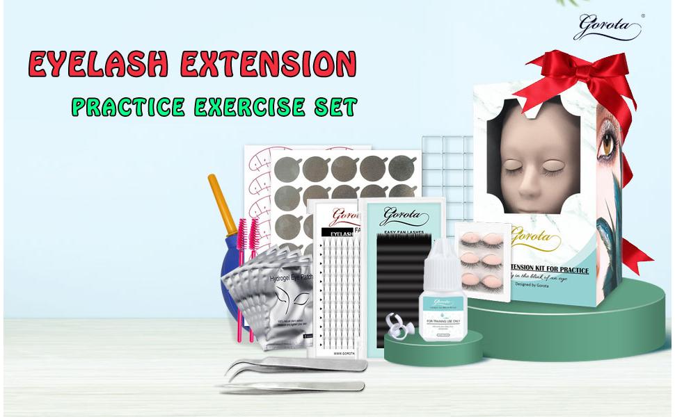 eyelash extension practice kit