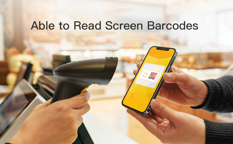 Able to read screen barcode
