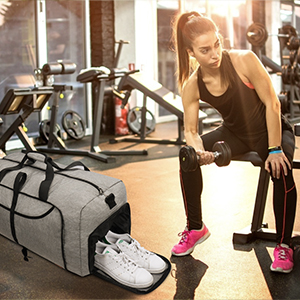 Vogshow Duffle Bag With Shoes Compartment