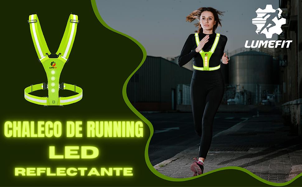 Luz para correr led con usb linterna frontal recargable running impermeable pecho modos senderismo