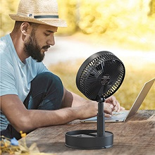 Foldaway Table Fan with Remote Control 7200mAh Battery Operated Oscillating Fan