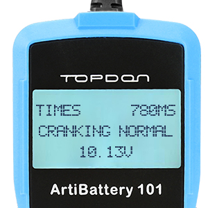 Topdon Ab101 Batterietester Kfz 12v 6v Universal Autobatterie Tester Für Kfz Motorrad Lkw Suv Etc Auto Batterie Zustand Starten Ladesystem Testgerät 6 Sprachen Deutsch Inkl Ab101 Auto
