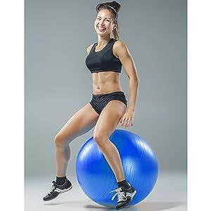 Exercise ball happy