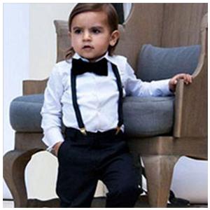 Yilaku 4tlg Baby Jungen Bekleidungssets Strampler hosentr/äger Fliege Krawatte Anzug Gentleman Festliche Taufe Hochzeit Langarm Baby Kleikind f/ür Fr/ühling Sommer