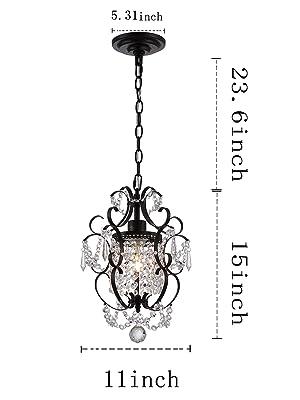 chandeliers size