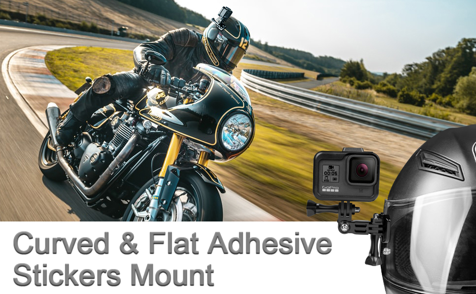 gopro curved flat adhesive sticker mount accessories