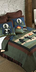 Bear, Donna Sharp, Quilts, Quilt Sets, Lodge, Bear Pattern