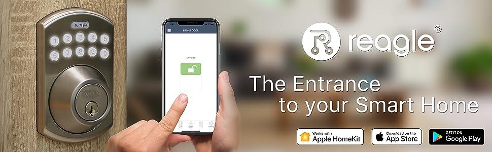 Reagle Smart Deadbolt Lock - works with Apple HomeKit, Siri, iOS and Android