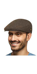 50% WOOL FLAT SNAP CAP BROWN