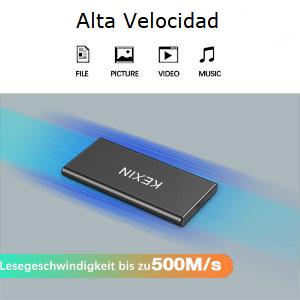 KEXIN 1TB Disco Estado Sólido Externo, Alta Velocidad Leer ...