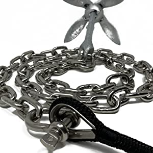Anchor line with anchor chain and anchor. Boating accessories and boating supplies image