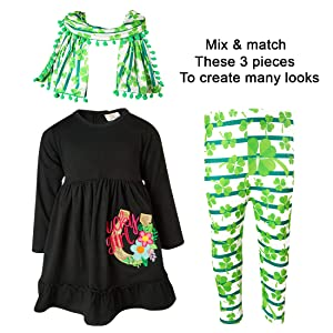 St. Patricks Day Lucky Girl Scarf Outfit