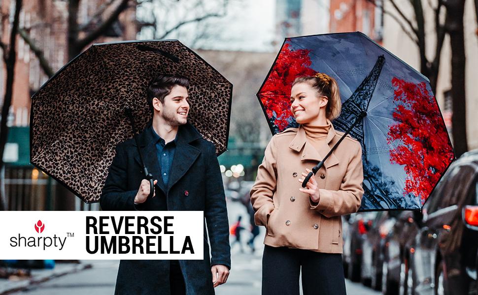 inverted inside out rain umbrella