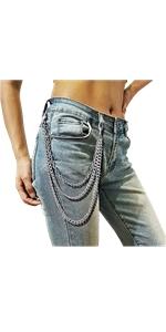 XZQTIVE Women Men Cool Pant Waist Chain