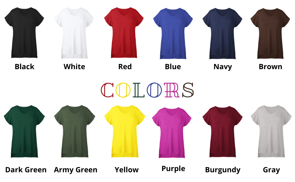 plus size tshirt of colors