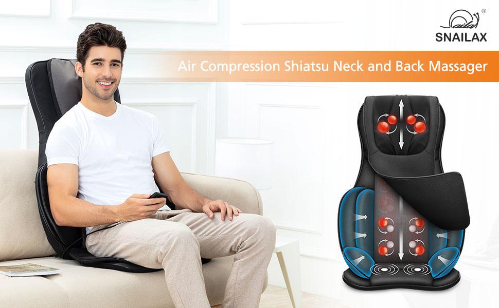 Full Body Massage Chair Pad -Shiatsu Neck Back Massager