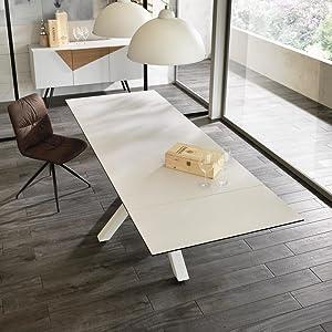 Tavolo allungabile con due allunghe fino a 240 cm