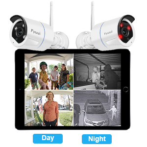 wifi outdoor security camera system with super night vision