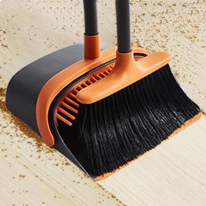 standing broom and dustpan set long handled broom lobby Ahomxin Broom and Dustpan Set