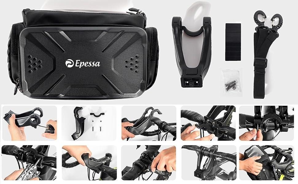bike handlebar bag shoulder bag