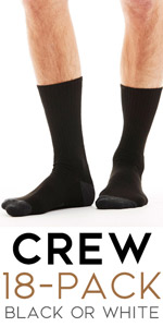 crew height tall boot socks soft comfy quality black mens man pack bulk set wholesale gift for guys