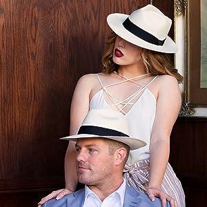couple matching style fashion formal stylish love hat straw fedora
