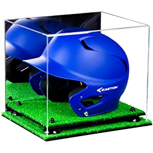 Acrylic Display Case Protect Collectible Sports Memorabilia Baseball Batting Helmet
