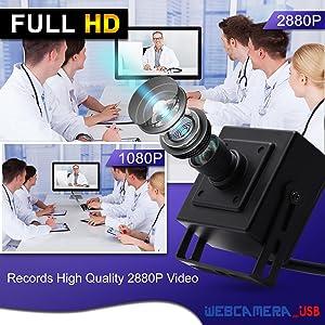 Varifocal lens usb camera 8MP usb webcam mini camera