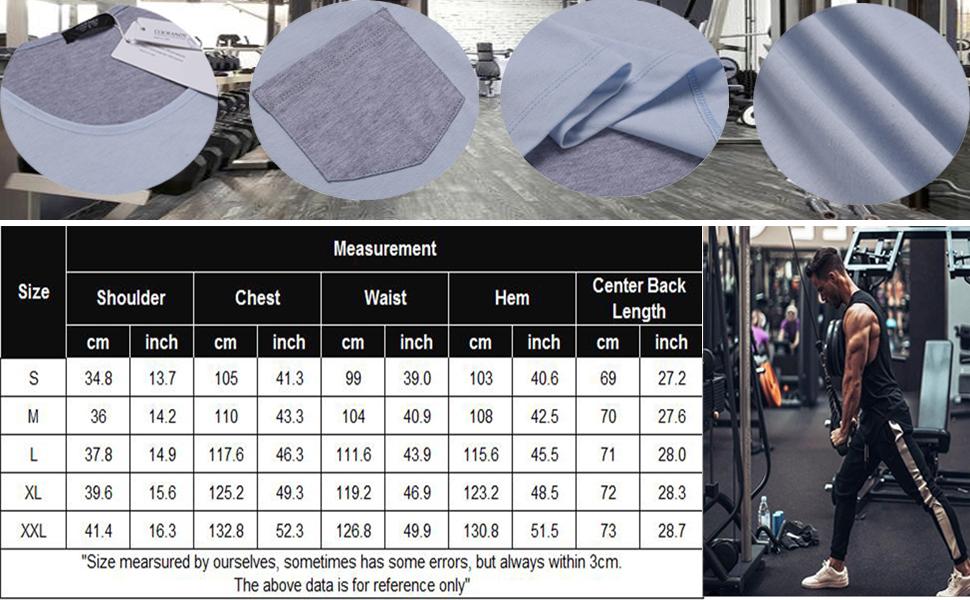 Men's Tank Top Casual Sleeveless Shirt with Pocket