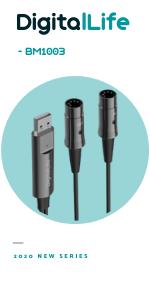 Câble d'interface Midi USB pour clavier MIDI piano contrôleur MIDI pour transfert de signal MIDI