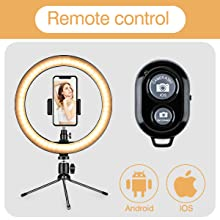 LLguz Dimmable Selfie Makeup Fill Light LED Online Self Timer Beauty Live Lamp for Indoor Video Streaming Studio Beauty Photography Broadcast,with Tripod Stand
