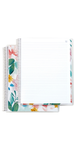 """Coiled Notebook-  8""""x11"""" Lined"""