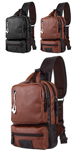 mens leather chest bag