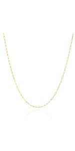 Jewelry Atelier Gold Filled Paper Clip Link Chain Necklace