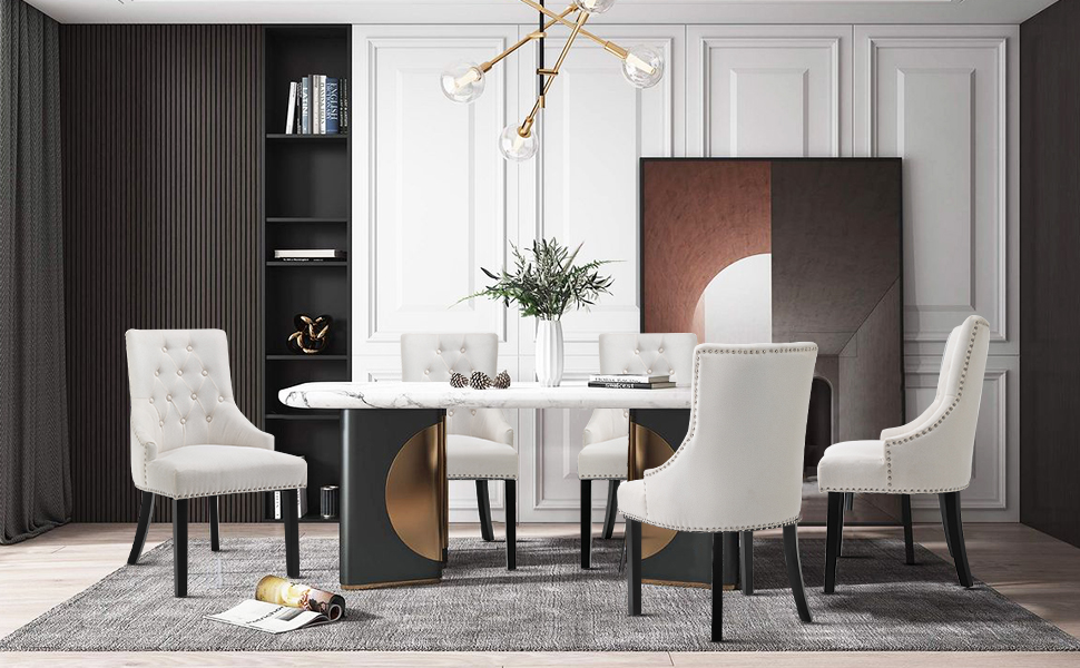 SEATZONE Dining Chairs Dining Room Chairs Kitchen Chairs for Living Room Side Chair