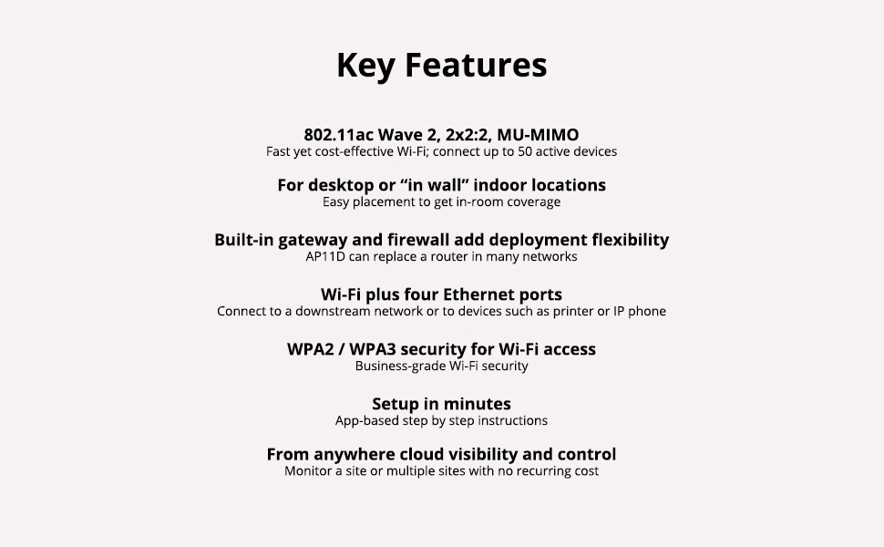 AP11D Key Features