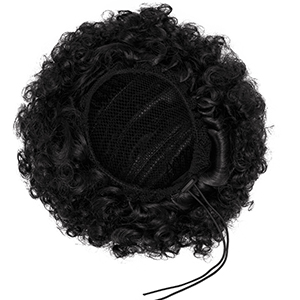 ynthetic Afro Puff Drawstring Bun Ponytail Short Kinky Curly Hair Bun Extension